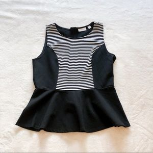 New York & Co | Striped Peplum Tank